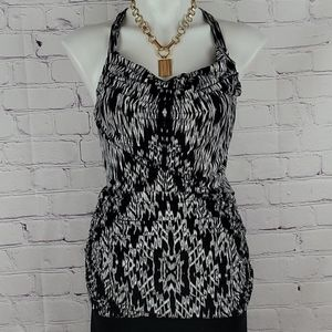 Banana Republic Black and White Jersey Knit Top
